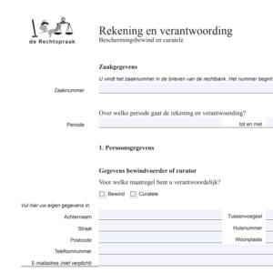 rekening en verantwoording pdf
