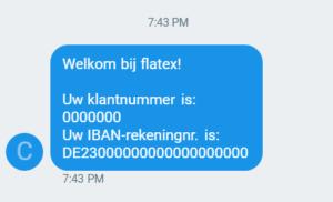 SMS Flatex.nl